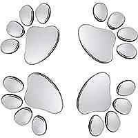 Oun Nana 3D Chrome Dog Paw Footprint Sticker Decal Auto Car Emblem Decal Decoration (4pcs)