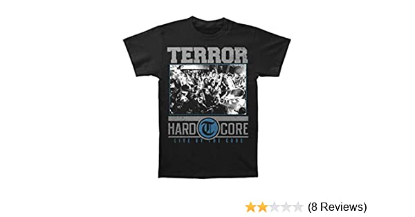 Amazon.com: Terror Mens Hardcore Black T-shirt Black: Music Fan T Shirts: Clothing