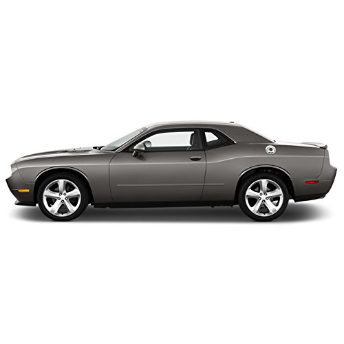 - Dawn Enterprises FE-CHALL Finished End Body Side Molding Compatible with Dodge Challenger - HEMI ORANGE PEARL (LC)