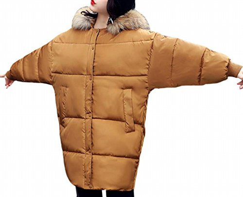 Hot Color Puffer Jacket 1 Long Sale Faux UK Thicken Fur Solid Down Womens Hooded Warm rrSTq
