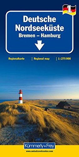 Deutsche Nordseeküste 1 : 275.000 mit touristischen Informationen und Index: Bremen - Hamburg (Kümmerly+Frey Reisekarten) Landkarte – Folded Map, 17. November 2010 Kümmerly + Frey Hallwag Kümmerly + Frey 3259014608 Deutschland