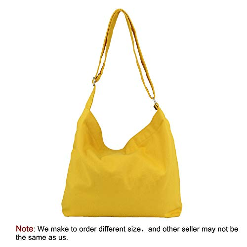 Messenger Large Yellow Travel Womens Canvas Purse Bag Work Casual Shoulder Crossbody Zipper with Bags Tote Hobo ZwHYqIHR