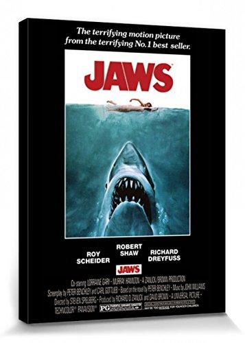 1art1 Tiburón - Cartel De Cine Cuadro, Lienzo Montado sobre ...