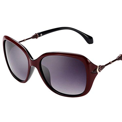 Caminante Protección Dates dates Gafas con Estilo 57mm Clásico Color Red Retro sol UV400 Mujer de Red polarizadas de wTqnZFUqXv