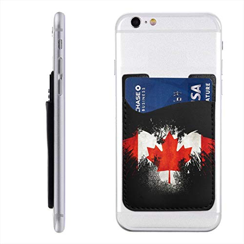 Canadian Eagle Fashion Card Holder Back Phone Cell Phone Wallet Pocket Credit Card ID Business Card - iPhone Android