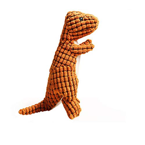 Love & Freedome New Bite Resistant Dog Chew Toys for Small Large Dogs Dinosaur Shaped Puppy Pet Squeaky Toy Pets Plush Sound Toys Pet Supplies,O,one Size