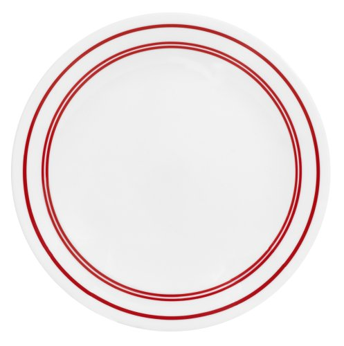 Corelle Livingware 8-1/2-Inch Luncheon Plate, Classic Cafe Red