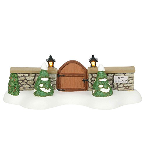 Department 56 New England Village Accessories Entry Gate Lit Figurine, 1.75