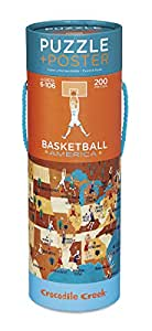 Crocodile Creek Basketball America Jigsaw Puzzle & Matching Poster (200 Piece)