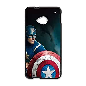 HTC One M7 Cell Phone Case Black Captain America Avengers Illust Film Xkdci