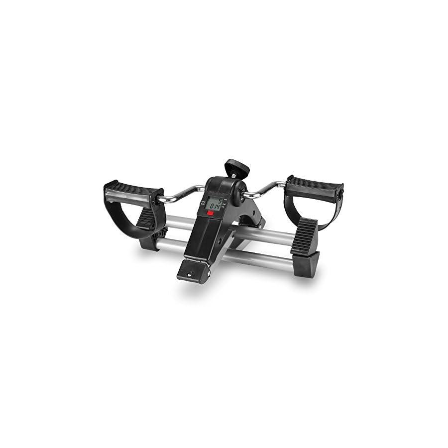 TODO Pedal Exerciser Foot Peddler Desk Bike Foldable LCD Monitor