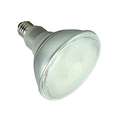 Satco Products Compact Flood Lamp, Par38, 23 Watts, 2700K, 82 CRI, Medium Base, 120 Volts, 2 Per Pack-3553326