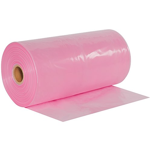 Poly Pink Box Tubing - BOX USA BPTAS2404 Anti-Static Poly Tubing, 4 mil, 24