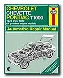 Haynes Chevrolet Chevette and Pontiac T1000 (76-87) Repair Manual (24024)