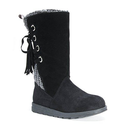Pictures of MUK LUKS Women's Luanna Boots Fashion Black 7 M US 9