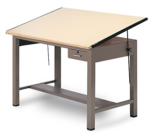 Ranger Steel Four Post Table w Tool Drawer (37.5 in. L x 60 in. W) by Mayline Group