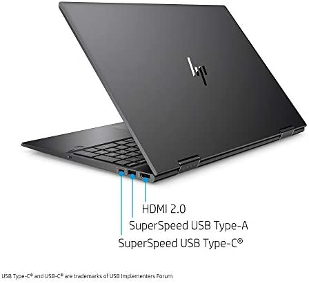 Flagship 2021 HP Envy 15 x360 2 in 1 Laptop 15.6″ Diagonal FHD IPS Touchscreen Display AMD 6-Core Ryzen 5 4500U 32GB RAM 512GB SSD Fingerprint Backlit Wifi6 USB-C HDMI B&O Win10 + iCarp Pen 41VMKgv3Z8L