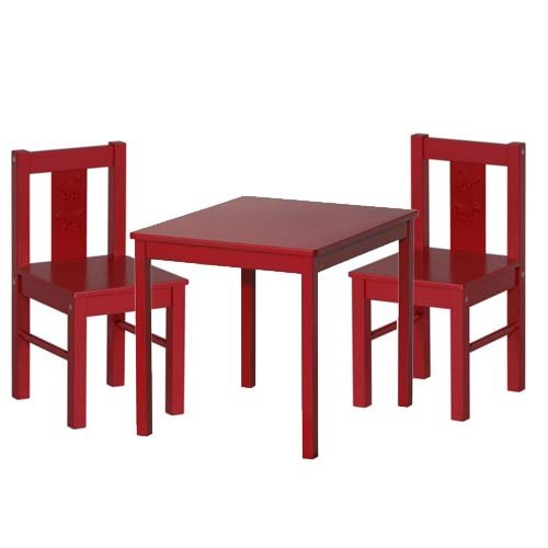 Ikea Kritter Childrenu0027s Table And 2 Chairs, Red