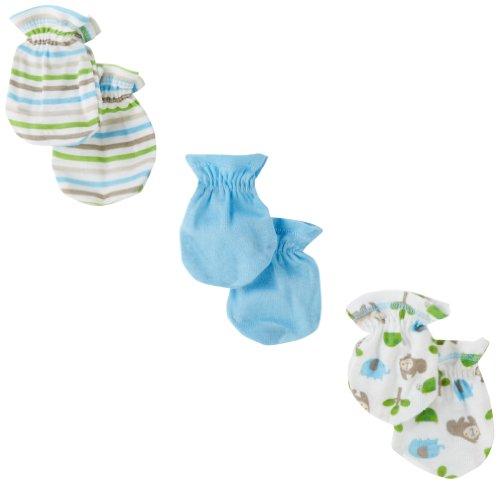 Gerber Baby-Boys Newborn 3 Pack Gorilla Mitten