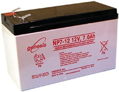Enersys Genesis Np7 12 12V 7Ah Sealed Lead Acid Battery  2 Pack