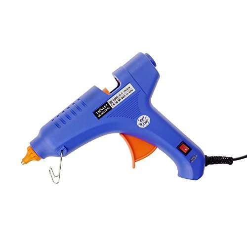 GiBot Hot Glue Gun with 30 pcs Melt Glue Sticks for DIY Arts & Craft, Projects & Sealing and Quick Repairs, 60-watt, Blue