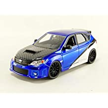 Jada Toys Fast and Furious 7- Brian's 2012 Subaru Impreza WRX STi GH Die-Cast Collectible Toy Vehicle Car, 1:24 Scale, Blue