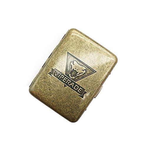 (Cigarette Case - Viperade Vintage Copper Alloy Cigarette Cases Box for Men - 16 Cigarettes (Copper))