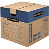Bankers Box SmoothMove Prime Moving Boxes, Medium, 8-Pack, (0062801)