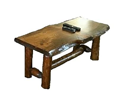Amazoncom Rustic Log Coffee Table Pine and Cedar Honey Pine
