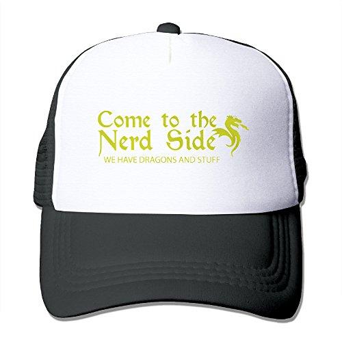 Scientist-Gamer-Nerd-Dragon-Nerdy-Gift-Trucker-Hats-Snapbacks-Match-Cap