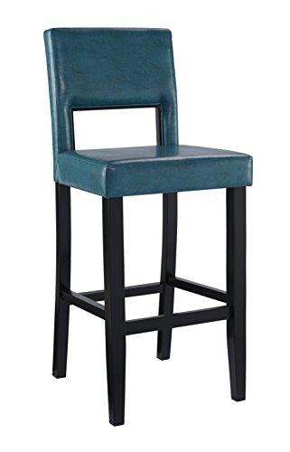 Linon Vega Bar Stool Aegean Blue Furniture Chairs Stools