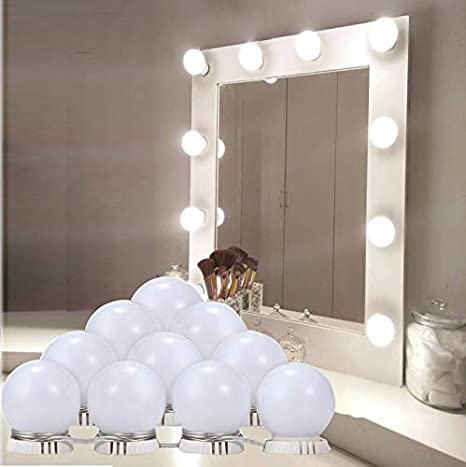 Vanity Mirror Lights Kit Xndryan Hollywood Style Makeup Mirror Lights 10 Dimmable Led Light Bulbs Lighting Fixture Strip For Makeup Vanity Table In