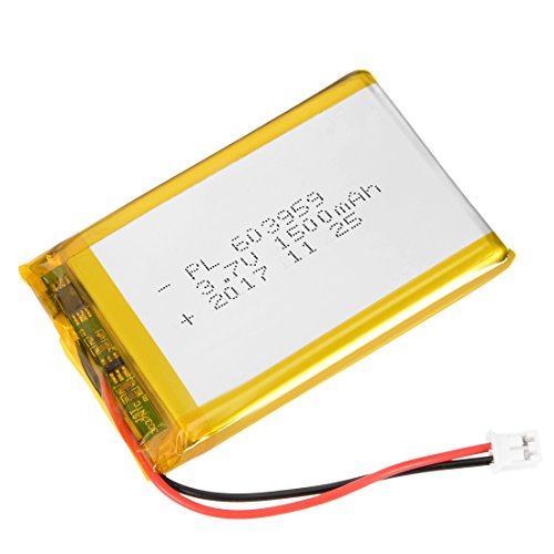 uxcell Power Supply DC 3.7V 1500mAh 603959 Li-ion Rechargeable Lithium Polymer Li-Po Battery
