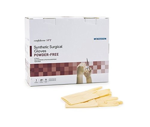 McKesson 915VA Synthetic Surgical Glove, Powder-Free, Size 7  (Pack of 40)