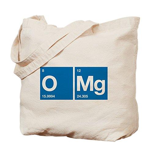 CafePress–oxígeno magnesio tabla periódica OMG–Gamuza de bolsa de lona bolsa, bolsa de la compra Medium caqui