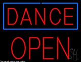 Dance Block Open Clear Backing Neon Sign 24'' Tall x 31'' Wide