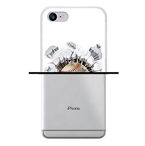 iPhone 8 Hülle, WoowCase Handyhülle Silikon für [ iPhone 8 ] Baseball Handytasche Handy Cover Case Schutzhülle Flexible TPU - Transparent