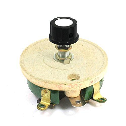 Volume Resistor (uxcell Single Turn Resistor 100W 200 Ohm Volume Control Ceramic Disk Rheostat)