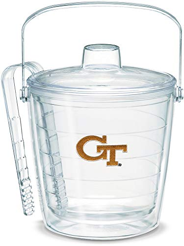 Tervis 1053382 Georgia Tech Yellow Jackets GT Ice Bucket with Emblem and Clear Lid 87oz Ice Bucket, Clear