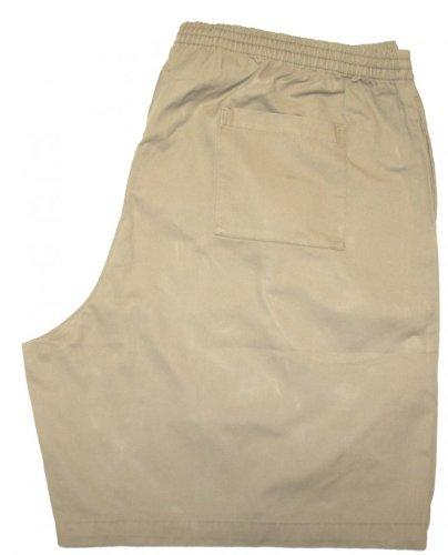FALCON BAY Full Elastic Heavy Wt. Twill Shorts #12-3175 Khaki, 5X