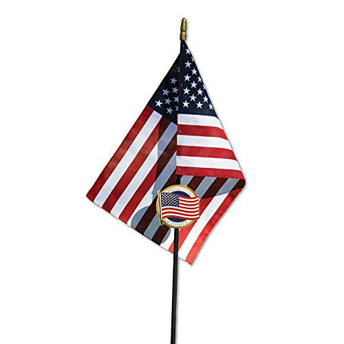 - Allied U.S. Flag Veteran Grave Marker with 30 Inch Tall American Cemetery Flag, Honoring Military Veterans and First Responders