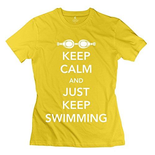 RIen Women's Keep Calm T-Shirt - XL Yellow