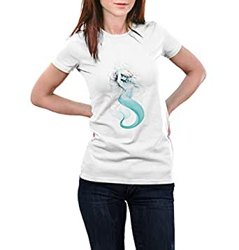 White Round Neck T-Shirt For Girls