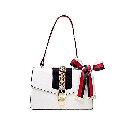 Beatfull Mini Handbags for Women, Fashion Shoulder Bag Cross Body Bag with a Bow Tie (white)