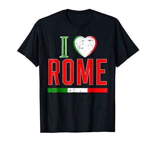 I Love Rome T Shirt Roma Travel Souvenir Italian Flag Shirt
