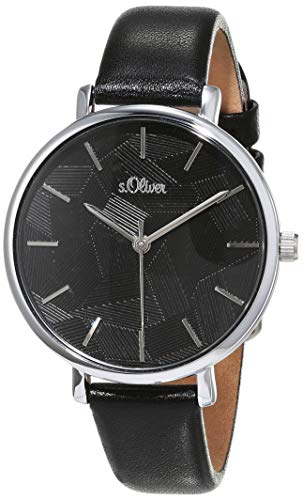 s.Oliver Womens Analogue Quartz Watch with Leather Strap SO-3737-LQ