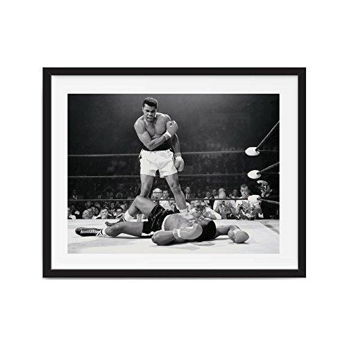 Muhammad Ali Boxing Pictures (Muhammad ali poster Framed Muhammad Ali vs. Sonny Liston Printed poster, boxing photo, fight, champ, man cave art, man cave art, boxing, ali)