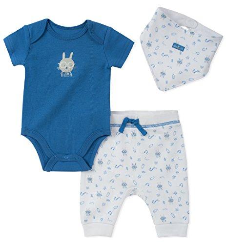 absorba Baby Creeper Pant Set with Bib Boys