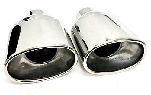 Oval Stainless Steel Exhaust Tips 2.5