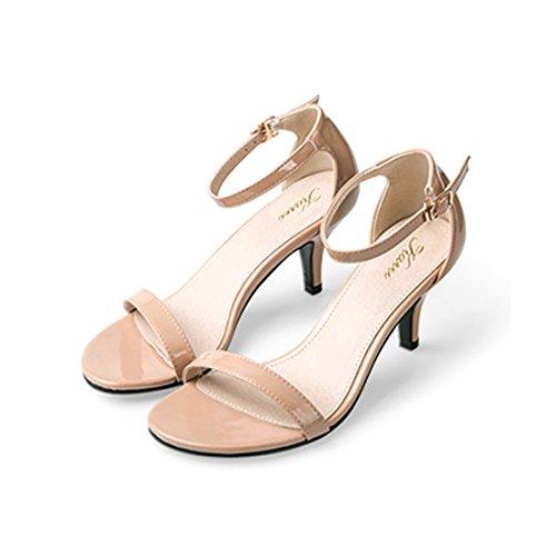 JUMERRYSs007 - Zapatos de tacón  mujer Beige